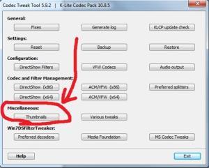 Что делать, если не отображаются эскизы видео файлов